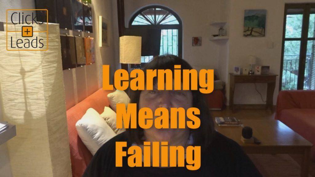 Learning Means Failing